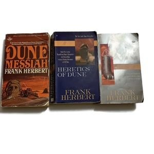 Lot of 3 Dune Books-Heretics, God Emperor, Messiah